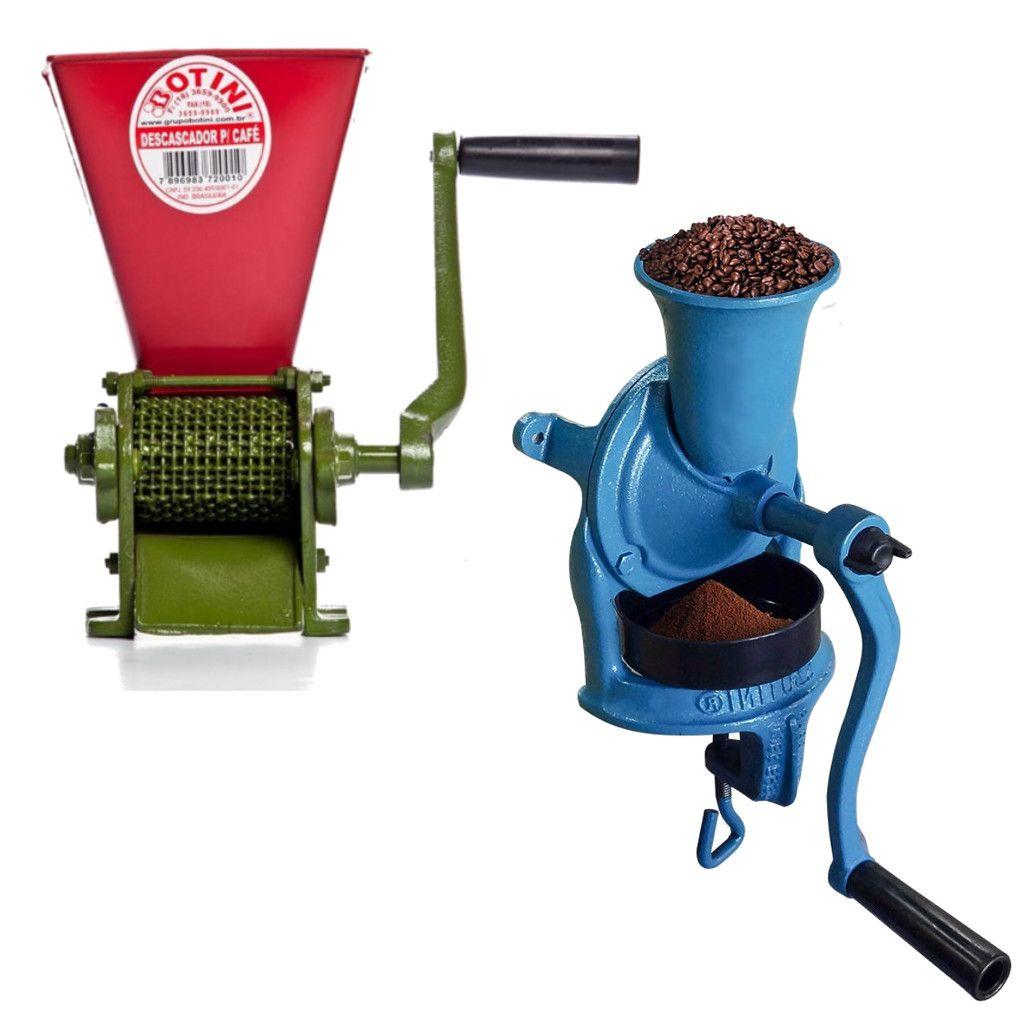 Combo Limpador e Moedor Manual de Café Seco - Botini
