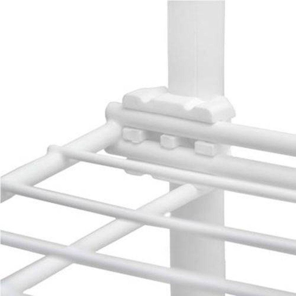 Combo Rack c/ Estante Evolutiva Aramada G e P Aramada Até 15kg Por Prateleira Branco - Metaltru