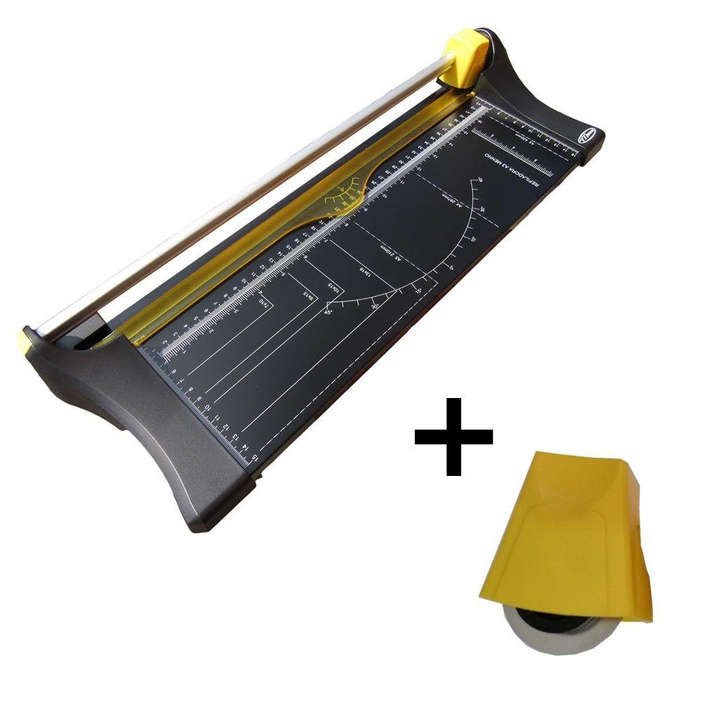 Combo Refiladora de Papel Compacta A3 Menno Corta Até 10 Folhas de 75g + Cabeçote de Reposição Extra