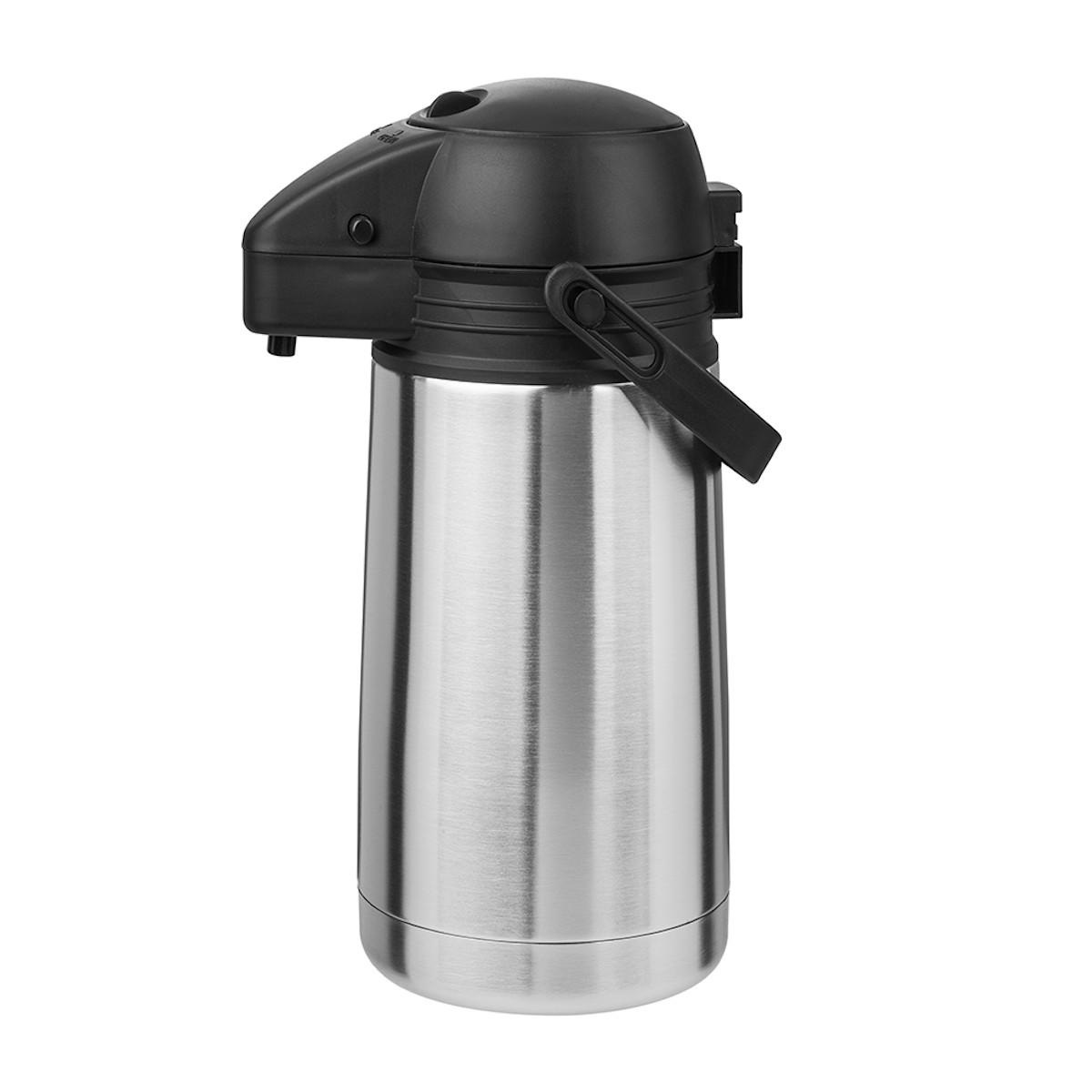Garrafa Térmica de Pressão p/ Café Chá Leite Inox Airpot 1.9L TP6543 - Termopro