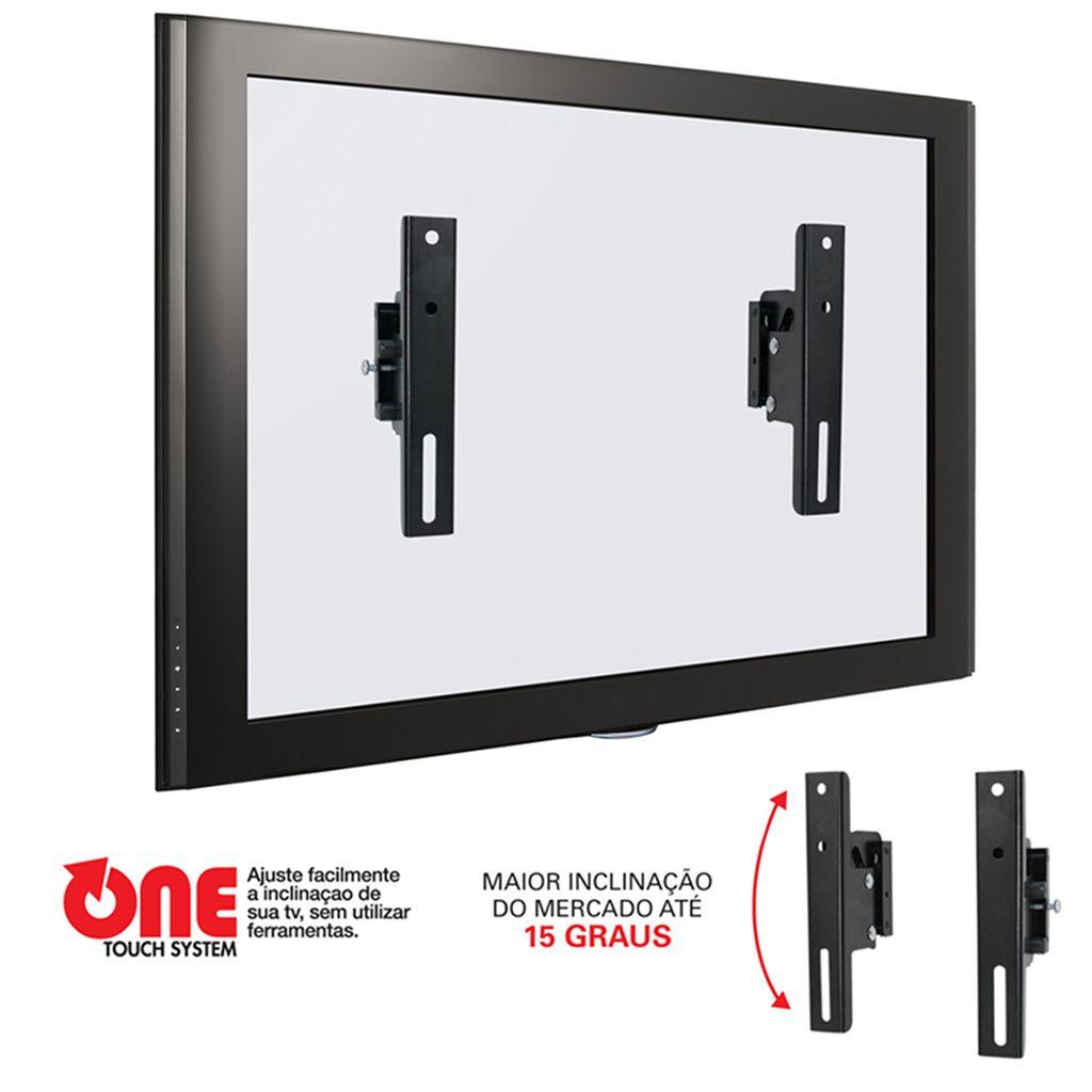 """KIt 4 Suporte Universal para TV LCD/Plasma/LED/3D de 14"""" a 71"""" c/ Inclinação 15º Infiniti-Plus - Multivisão"""