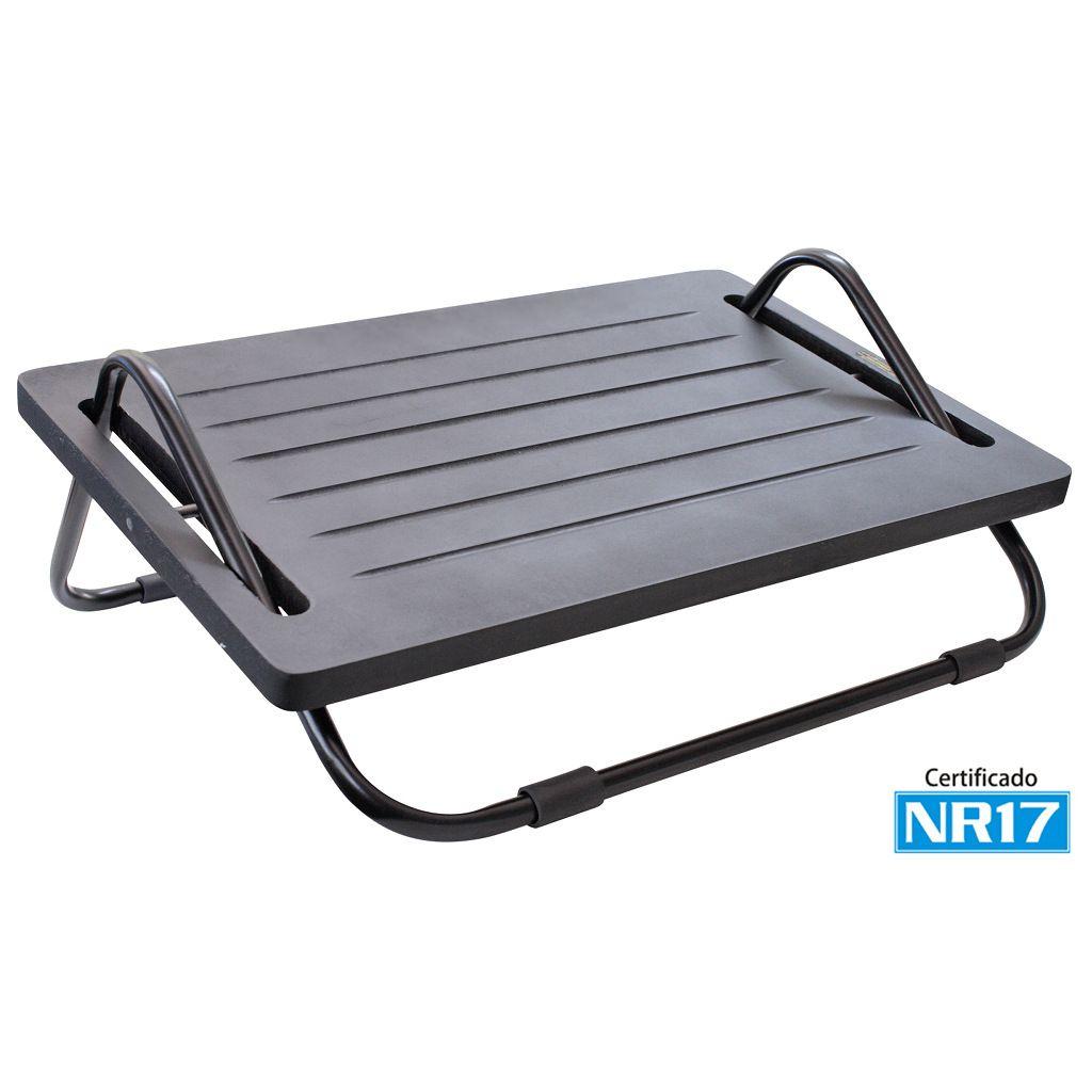 Kit Ergonômico Mesa Ajustável p/ Notebook NT-Home + Apoio p/ Pés MDF NR17 - Multivisão