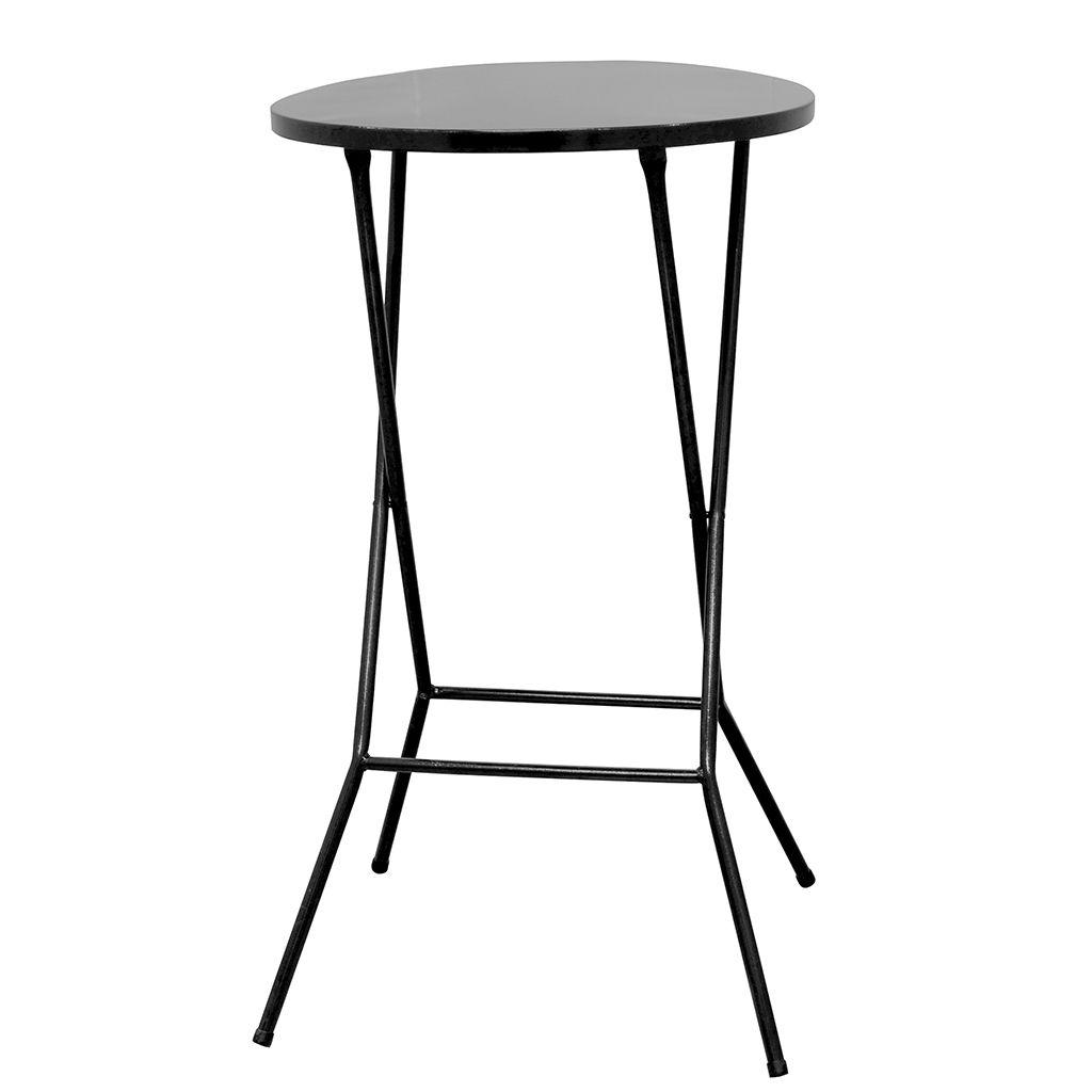 Mesa Bistrô Alta Dobrável em Aço Tampo 60cm Altura 105,5cm p/ Bar Cozinha Lanchonete - Açomix