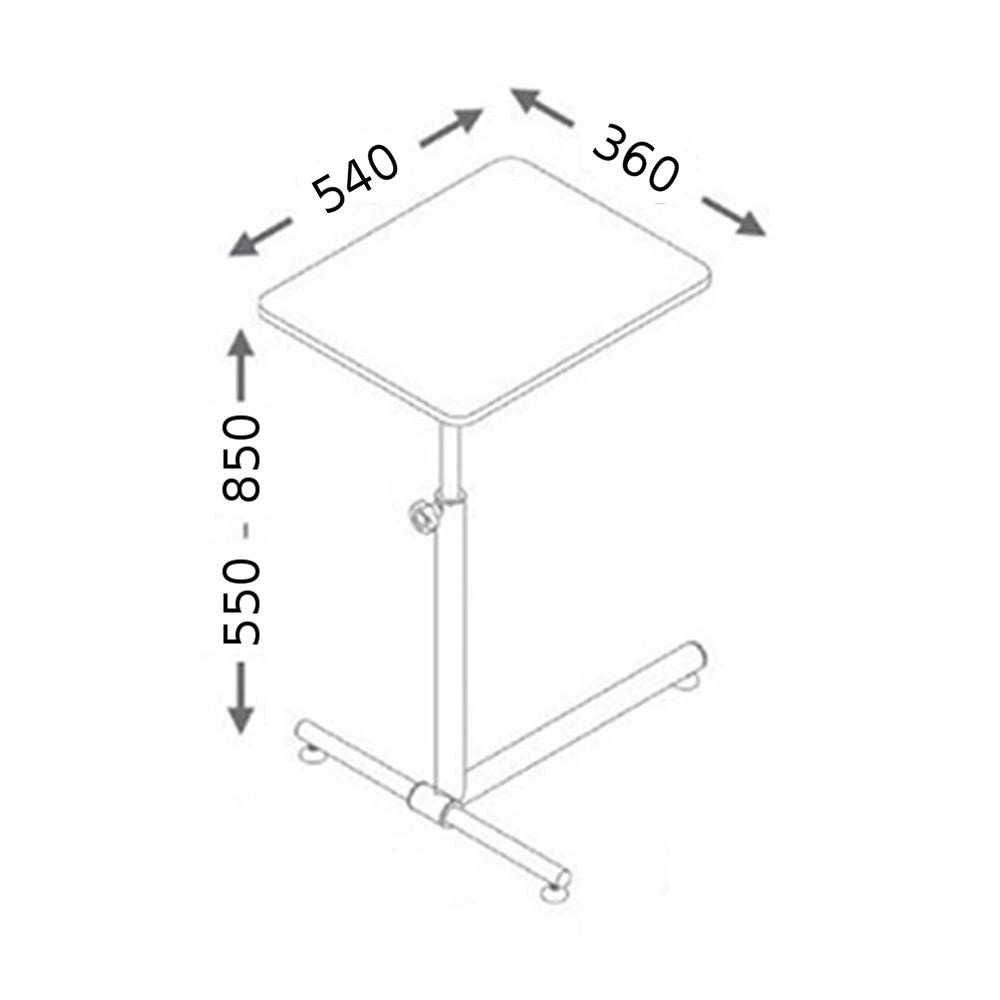 Mesa Ergonômica p/ Notebook c/ Regulagem de Altura, Inclinação e Giro Multivisão NT-HOME