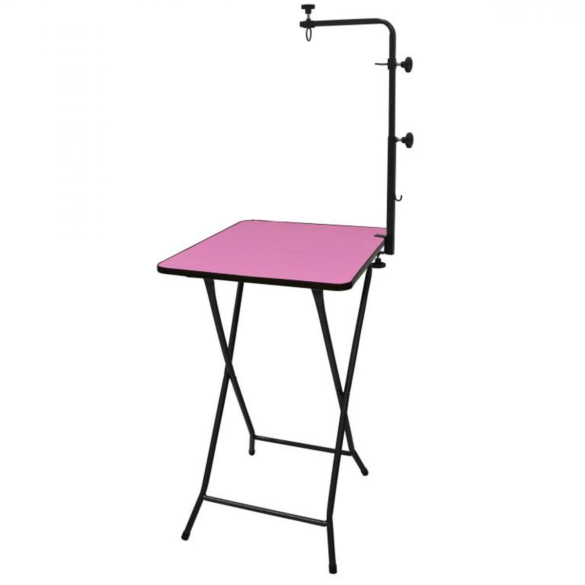 Mesa p/ Banho e Tosa / Pet Shop Dobrável c/ Girafa até 40kg - Açomix