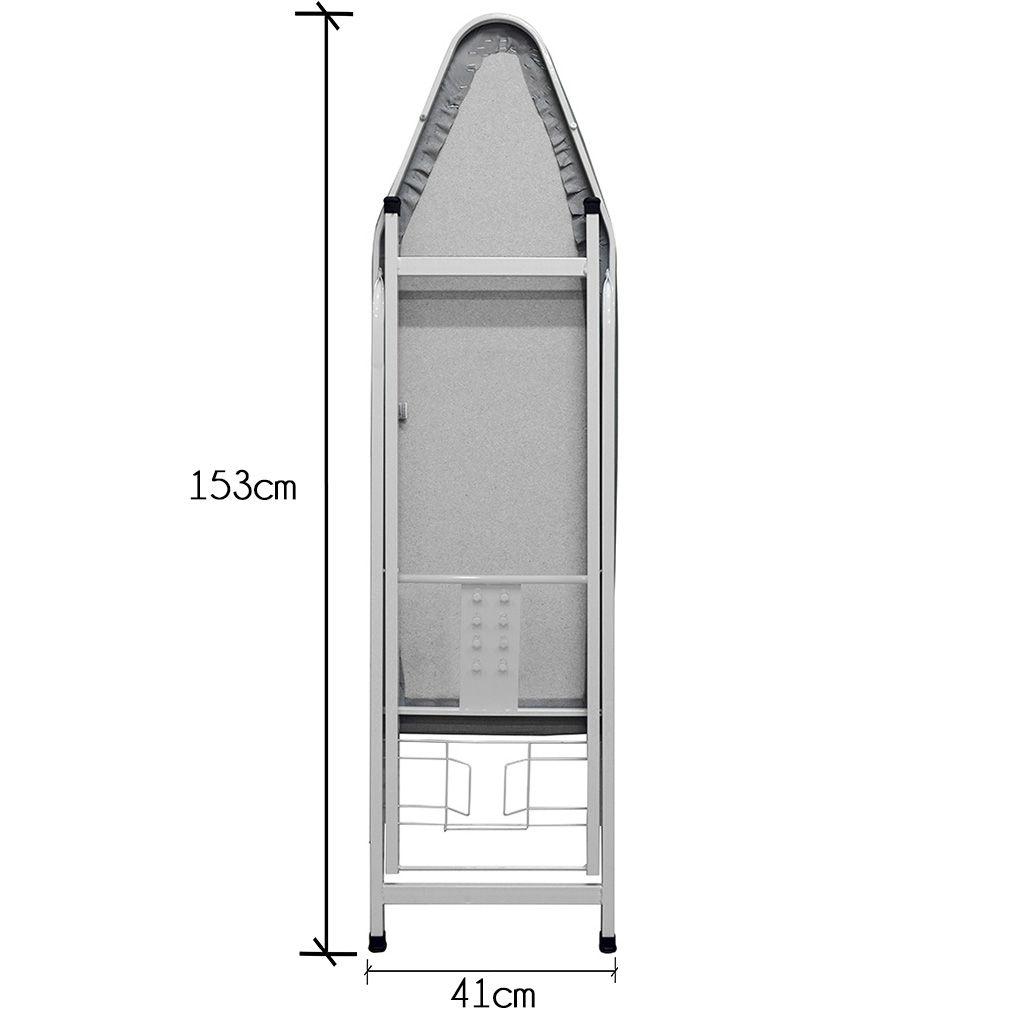 Mesa/Tábua de Passar Roupa Suprema Extra 4 Níveis de Ajuste Altura 41cm Largura c/ Suporte p/ Ferro - Açomix