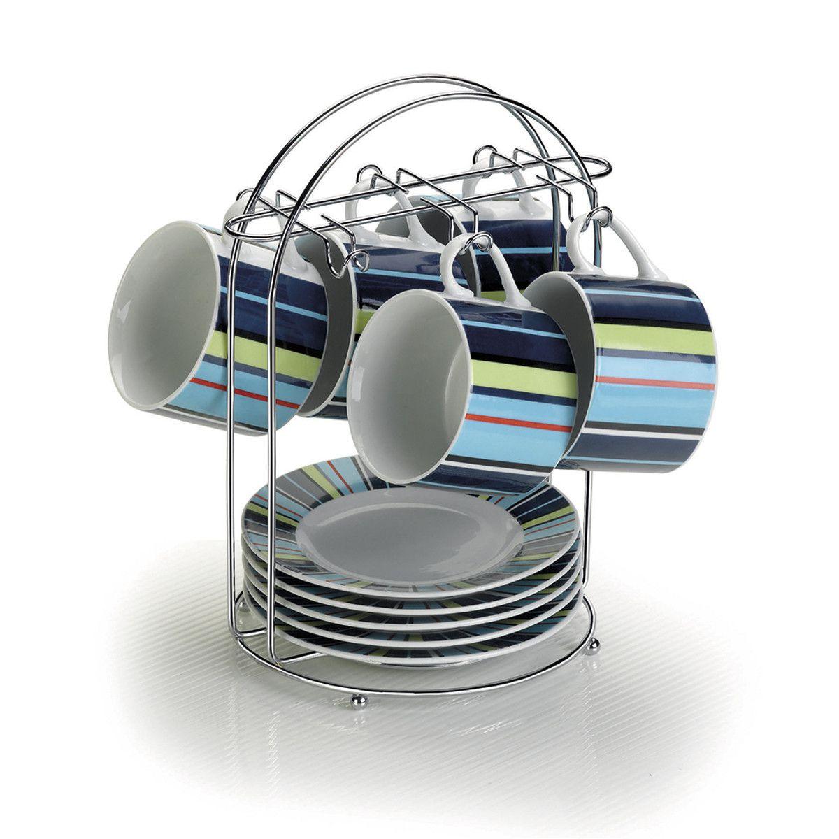 Porta 6 Xícaras de Chá e Pires Suporte Organizador - Arthi
