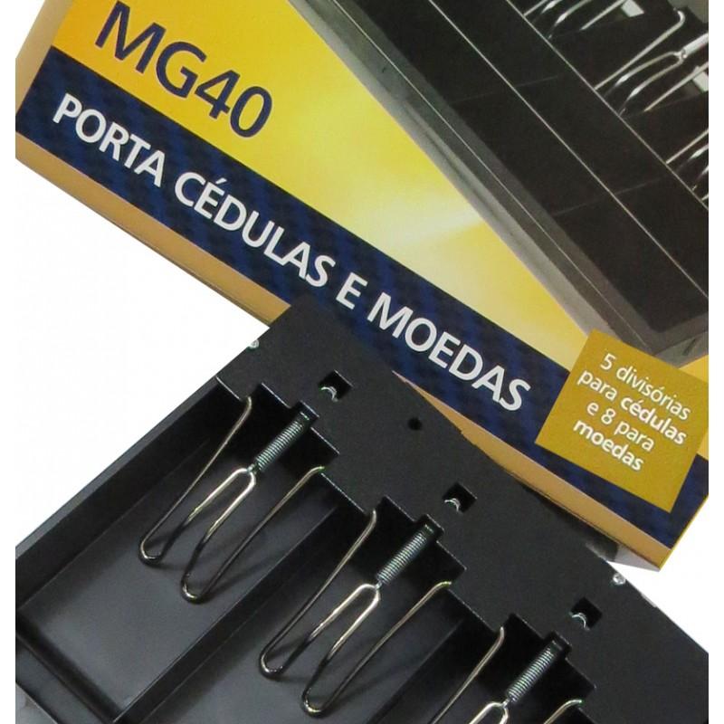 Porta Cédulas e Moedas Menno MG40 Com Prendedor Metálico
