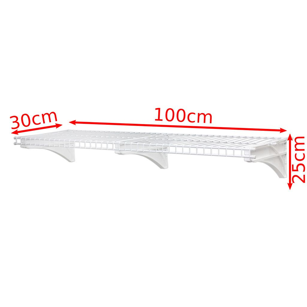Prateleira Ventilada / Aramada G com Trilho 100x25x30 Suporta 45Kg - Metaltru