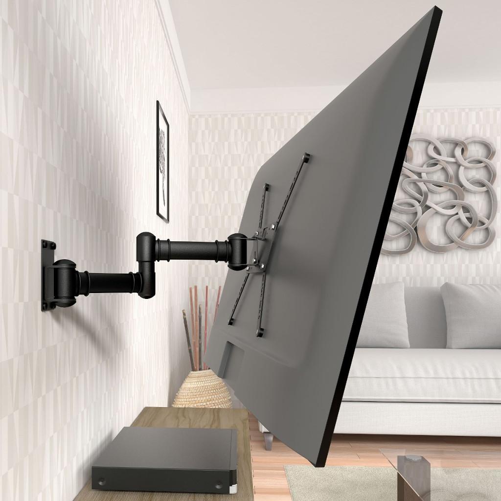 """Suporte de Parede Para TV LED/LCD/3D/Plasma/Curva de 19"""" a 56"""" Bi-Articulado c/ Inclinação de até 15º STPA50 Multivisão"""