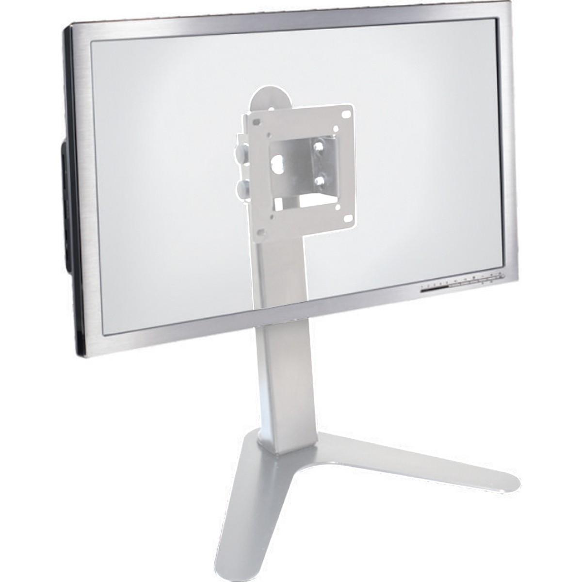 """Suporte Mesa/Pedestal Ergonômico NR17 p/ Monitor LED/LCD/3D 10"""" a 24"""" c/ Incl. MT-SLIM - Multivisão"""