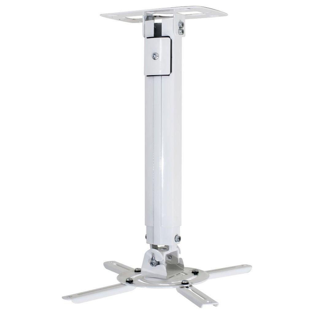 Suporte Universal Para Projetor Teto ou Parede 38cm a 62cm Inclinação 15º Giro 360º Alumínio/Aço MT-305 - Multivisão