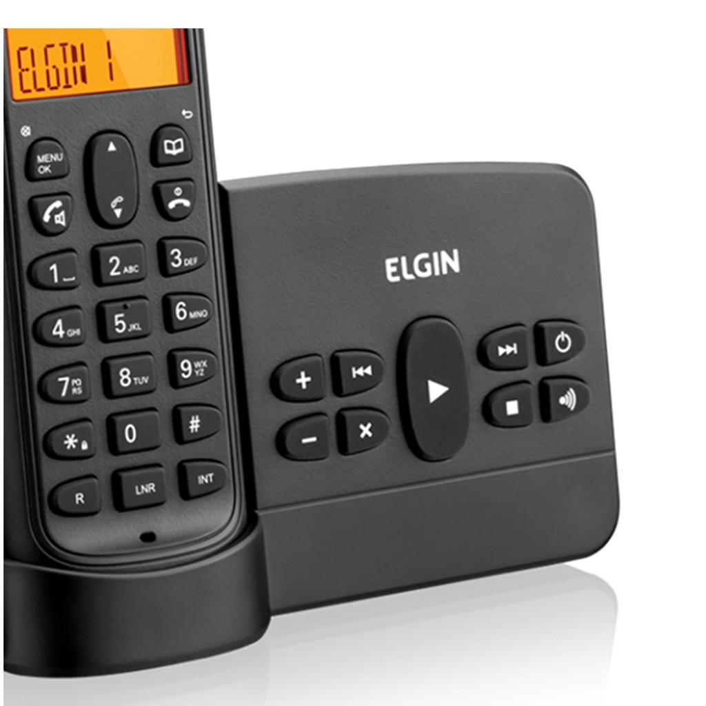 Telefone Sem Fio Elgin TSF 800SE c/ Secretária Eletrônica, Identificador, Viva-voz, Dect 6.0, 1.9Ghz