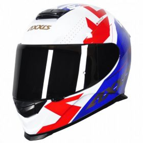 CAPACETE - AXXIS EAGLE DIAGON GLOSS WHITE/BLUE/RED
