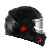 Capacete LS2 FF320 Stream Velvet Black/Red