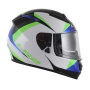 Capacete LS2 FF397 Vector Labyrinth Rainbow Branco