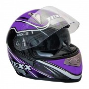 Capacete Texx Race Sleek Double Vision - Roxo