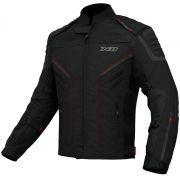 Jaqueta X11 Iron 2 Preta e Vermelha Impermeável Moto