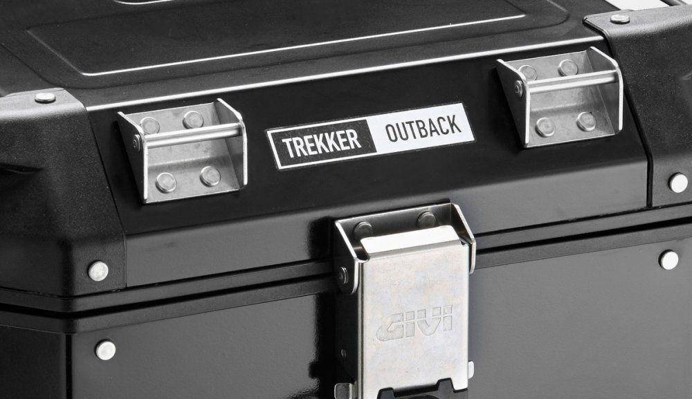 Baú Givi OBK58B Outback 58L Aluminio Preto (traseiro)