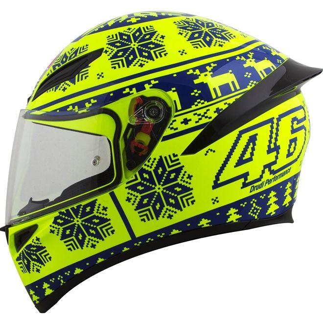 Capacete AGV K1 Winter Test 15 Amarelo/Azul (Valentino Rossi)