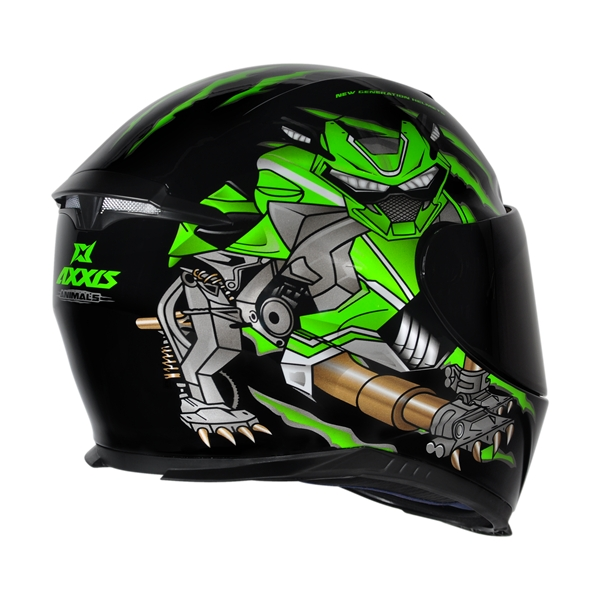 CAPACETE - AXXIS EAGLE ANIMALS BLACK-GREEN
