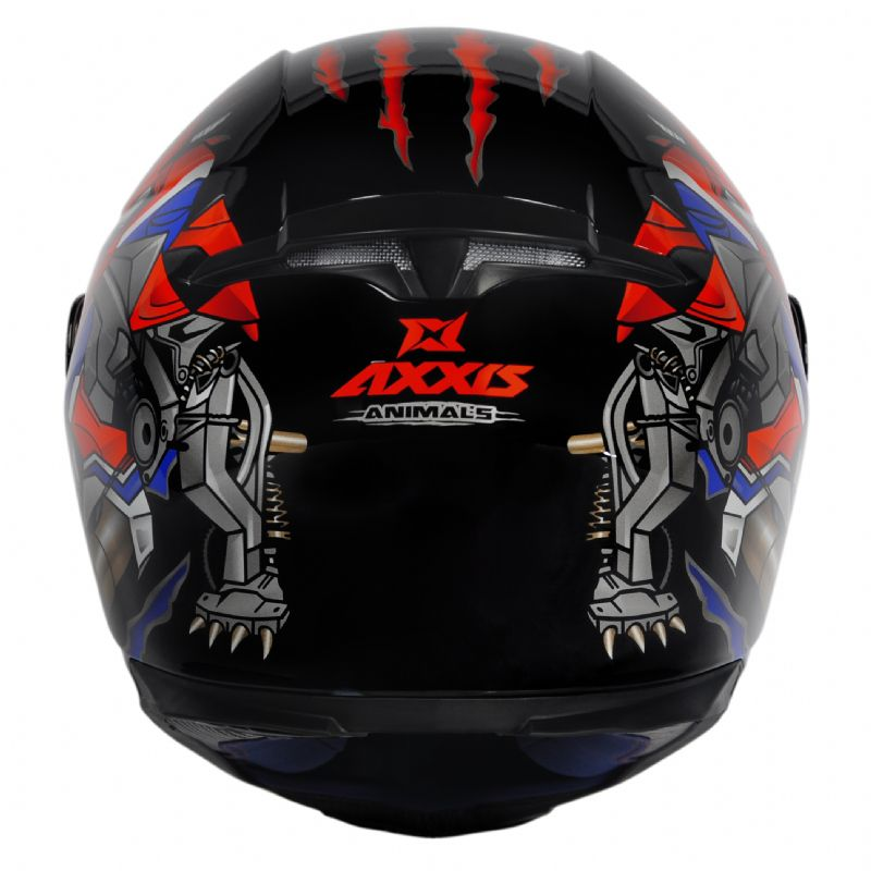 CAPACETE - AXXIS EAGLE ANIMALS BLACK-RED