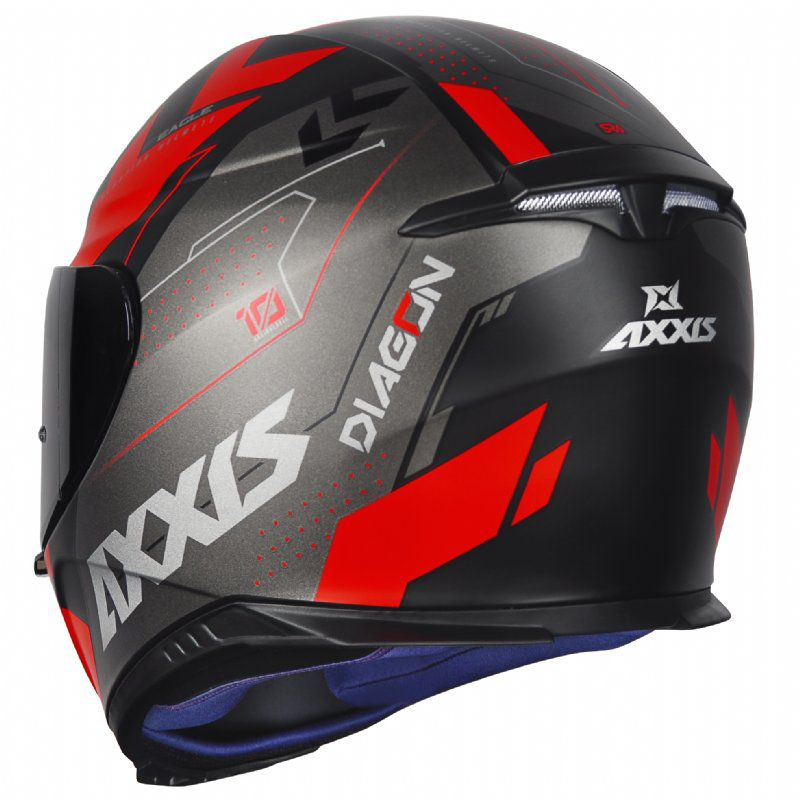 CAPACETE - AXXIS EAGLE DIAGON MATT BLACK/GREY/RED