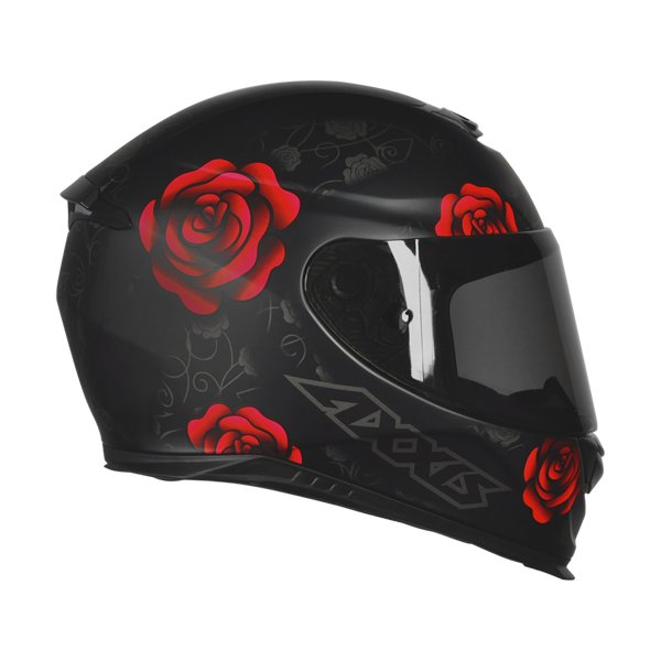 CAPACETE - AXXIS EAGLE FLOWERS MATT BLACK-RED