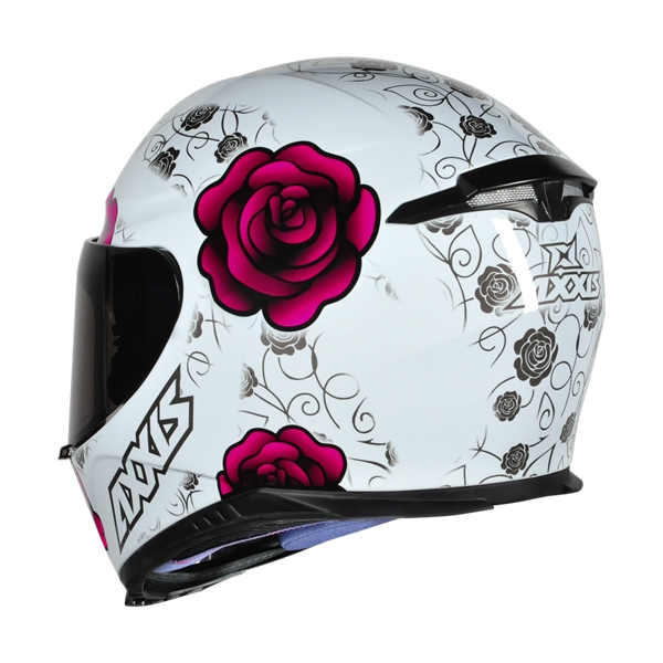 CAPACETE - AXXIS EAGLE FLOWERS WHITE-PINK