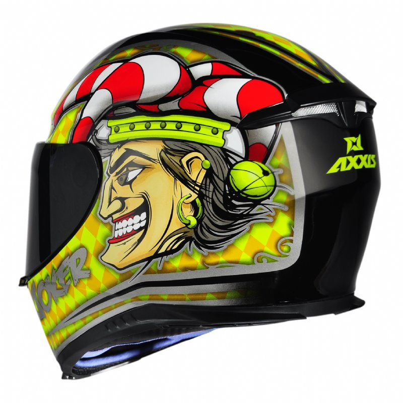 CAPACETE - AXXIS EAGLE JOKER GLOSS BLACK-YELLOW