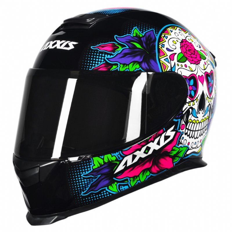CAPACETE - AXXIS EAGLE SKULL BLACK-BLUE