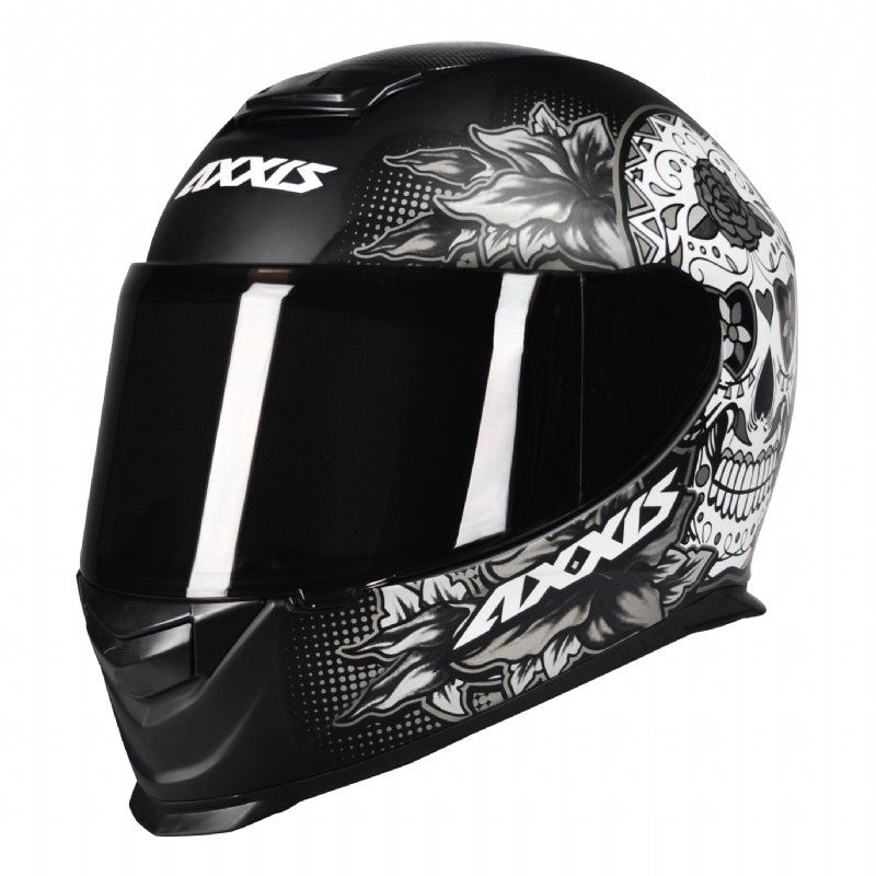 CAPACETE - AXXIS EAGLE SKULL MATT BLACK-GREY
