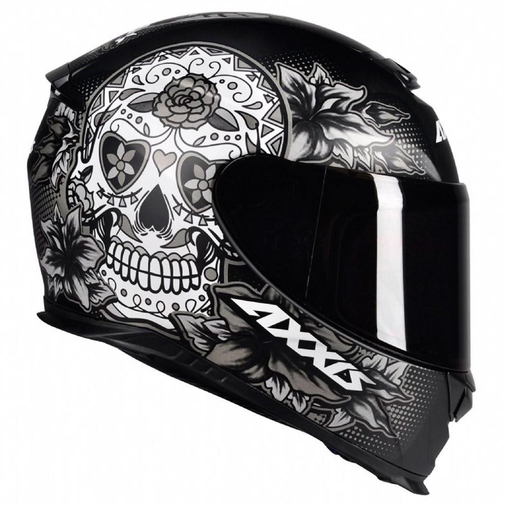 Capacete Axxis Eagle Skull Cinza/Preto