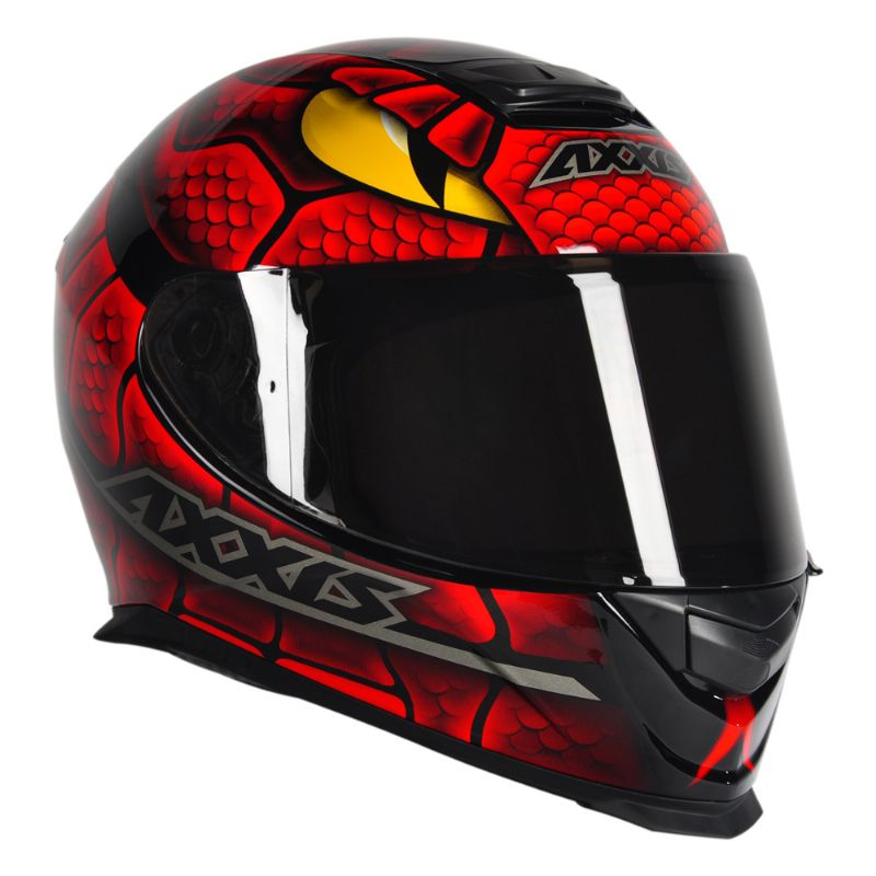 CAPACETE - AXXIS EAGLE SNAKE BLACK-RED