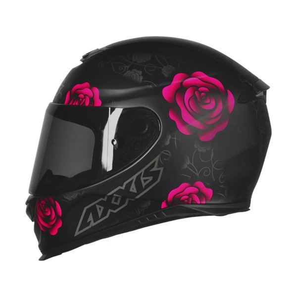 CAPACETE - AXXIS FLOWERS MATT BLACK PINK