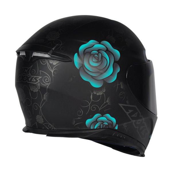 CAPACETE - AXXIS FLOWERS MATT BLACK TIFFANY