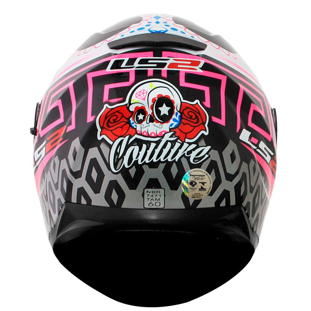 CAPACETE LS2 FF320 STREAM COUTURE WHT/PINK