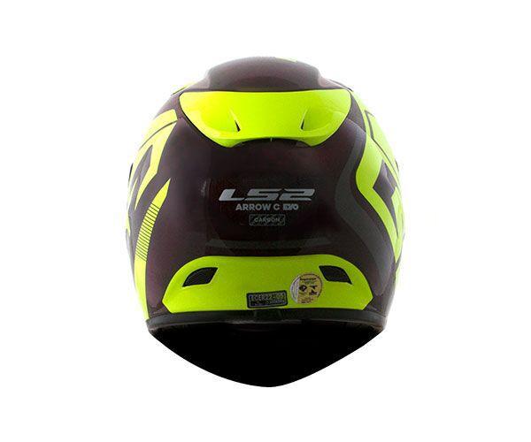 Capacete Ls2 Ff323 Arrow C Evo Sting Amarelo Full Carbon