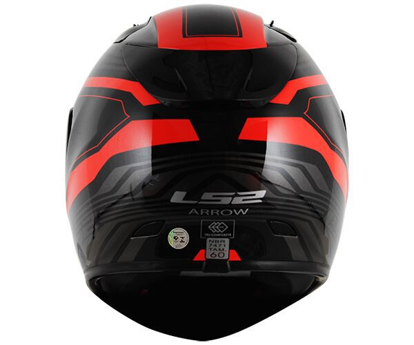 Capacete LS2 FF323 Arrow R Burner Preto Vermelho - Tricomposto