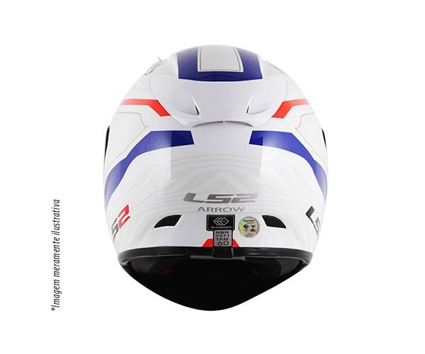 Capacete LS2 FF323 Arrow R Burner Branco Vermelho Azul