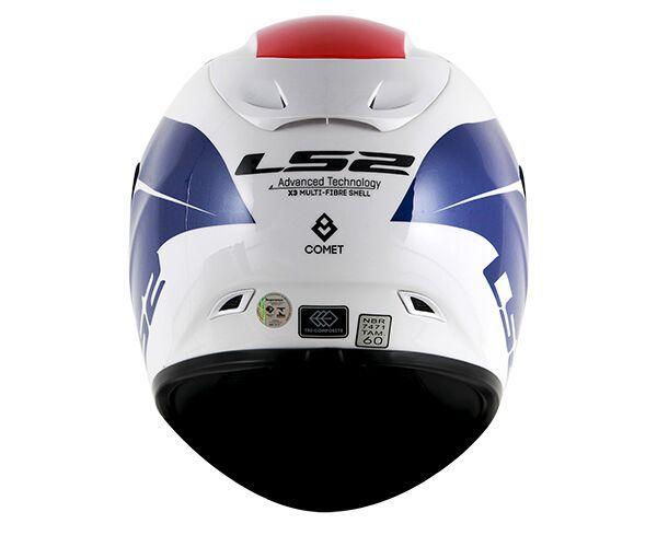 Capacete LS2 FF323 Arrow R Comet Branco/Azul - Tricomposto