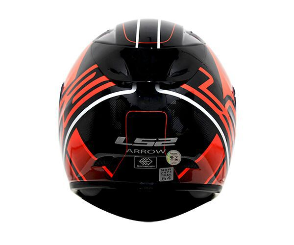 Capacete LS2 FF323 Arrow R Ion Preto/Vermelho - Tricomposto