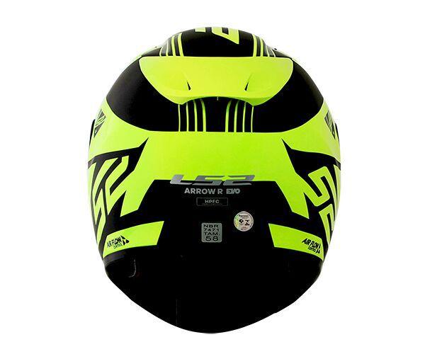 Capacete LS2 FF323 Arrow R Neon Preto/Amarelo - Tricomposto