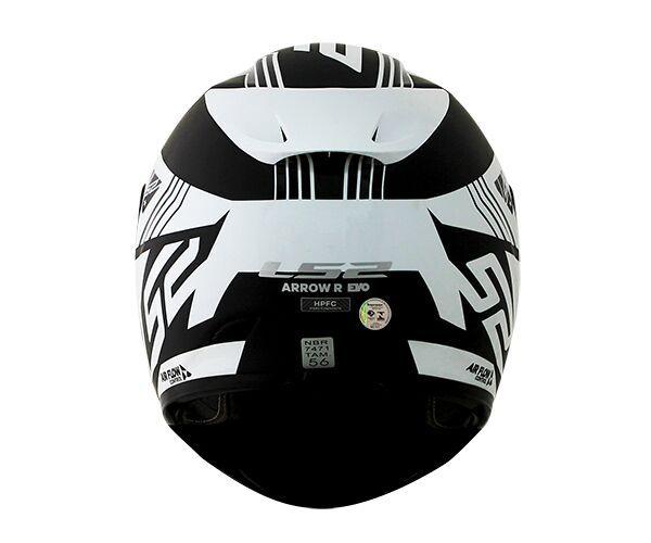Capacete LS2 FF323 Arrow R Neon Preto/Branco - Tricomposto