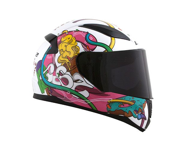 CAPACETE LS2 FF353 RAPID MINI J CRAZY POP BCO/ROSA