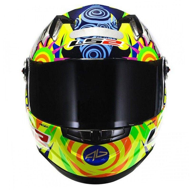 Capacete LS2 FF358 Réplica Alex Barros Amarelo - RS1
