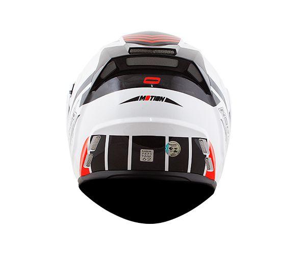 Capacete Norisk FF345 Route Motion Escamoteável branco/preto/vermelho C/Viseira Solar.