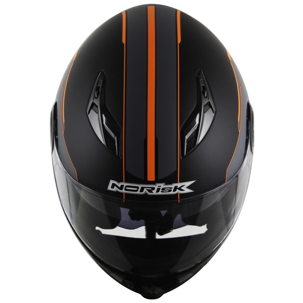 Capacete Norisk FF370 Midnight Black/Orange