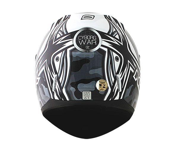 Capacete Norisk FF391 Cyborg White/Black