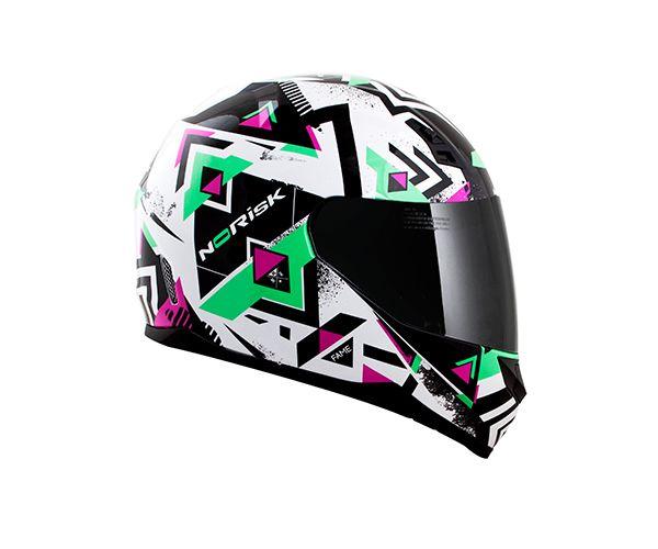 Capacete Norisk FF391 Fame Green/Pink